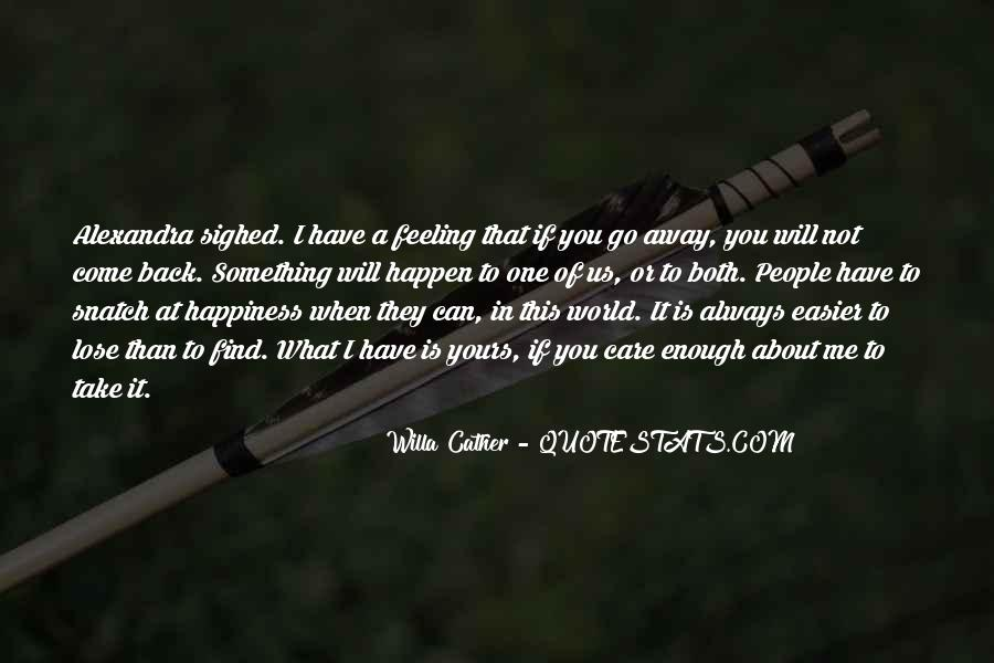 I Will Back Quotes #46099