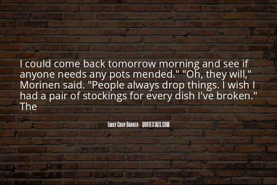 I Will Back Quotes #97735