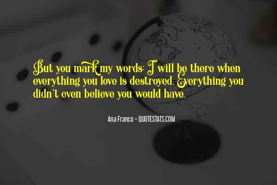 I Will Be There Love Quotes #1180406