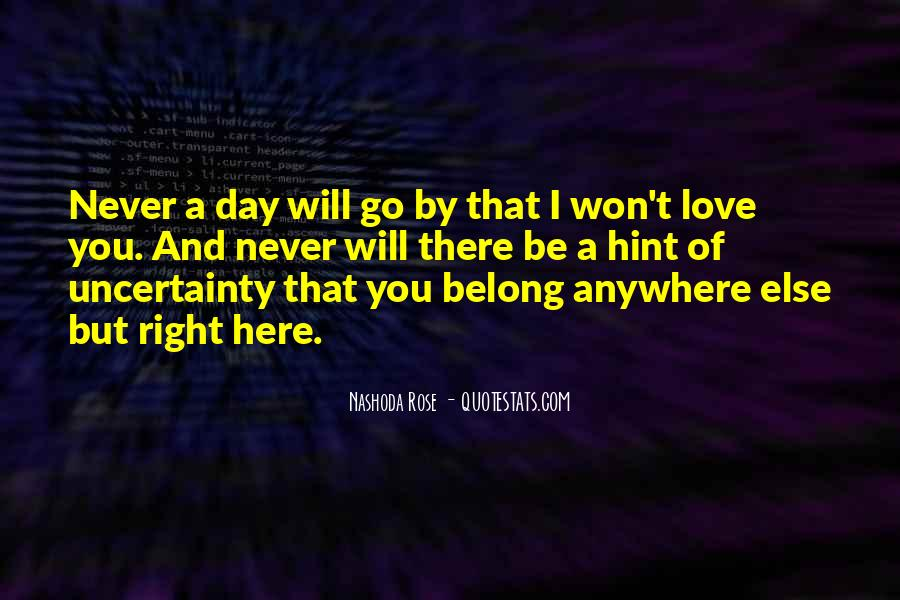I Will Be There Love Quotes #823668