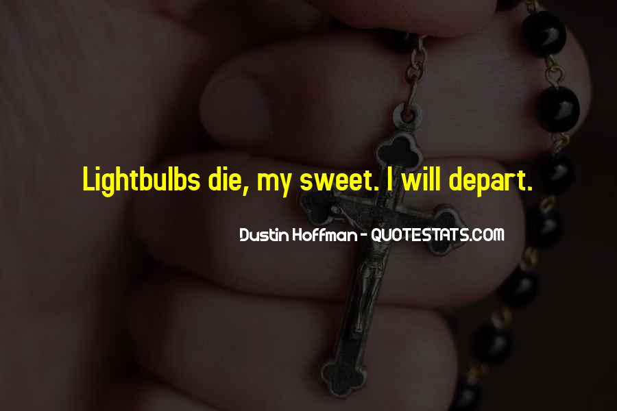 I Will Depart Quotes #107345