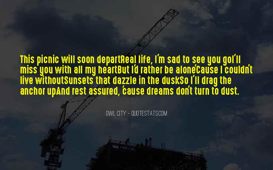 I Will Depart Quotes #1500139