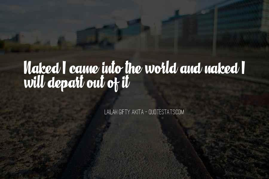 I Will Depart Quotes #1761580