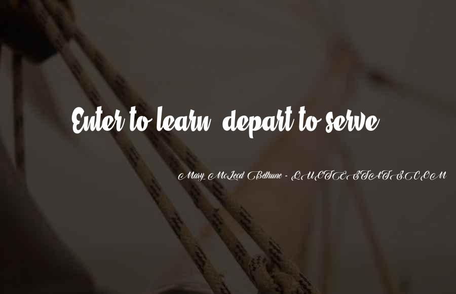 I Will Depart Quotes #217836