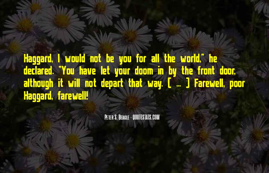 I Will Depart Quotes #792399