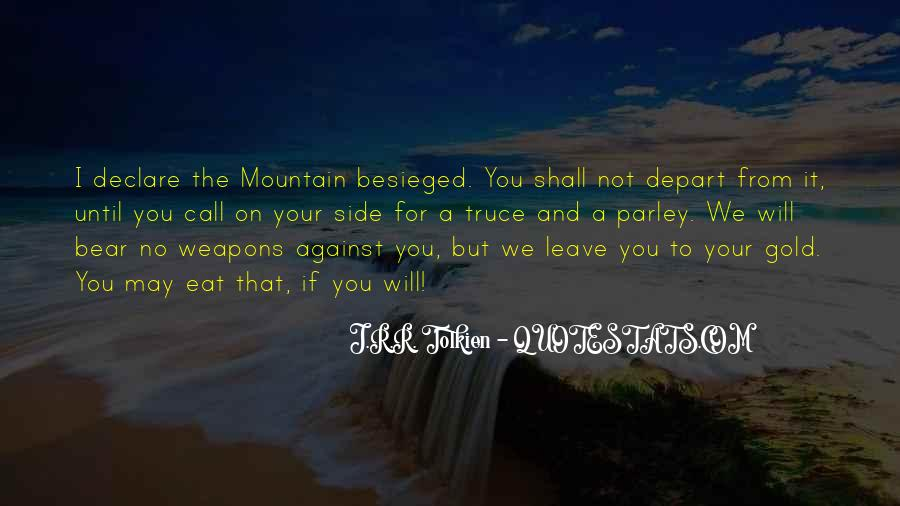 I Will Depart Quotes #973523