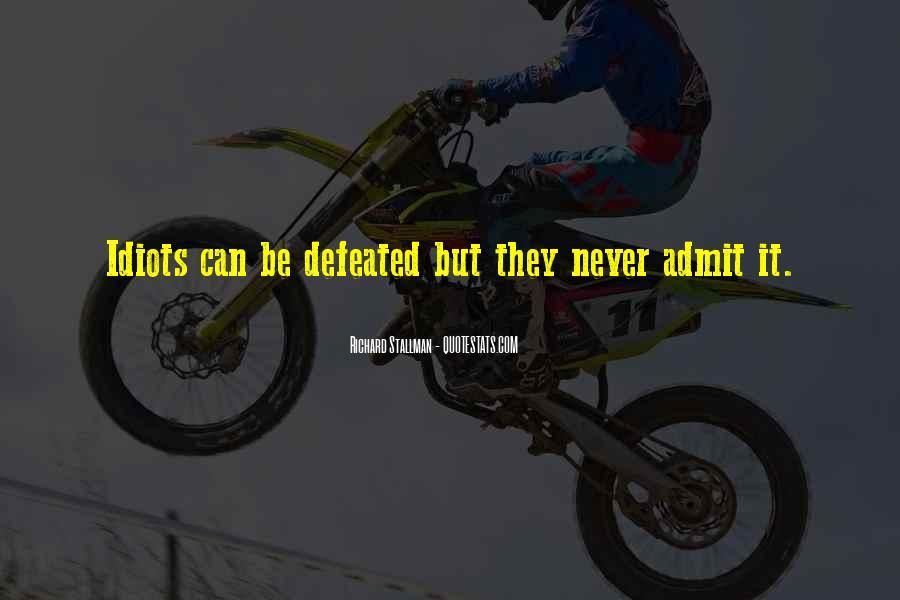 I Will Never Be Defeated Quotes #109398