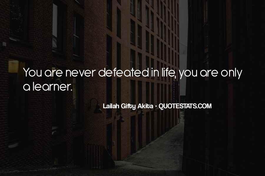 I Will Never Be Defeated Quotes #283007