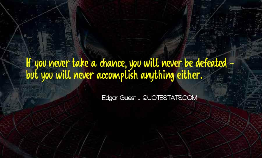 I Will Never Be Defeated Quotes #458408