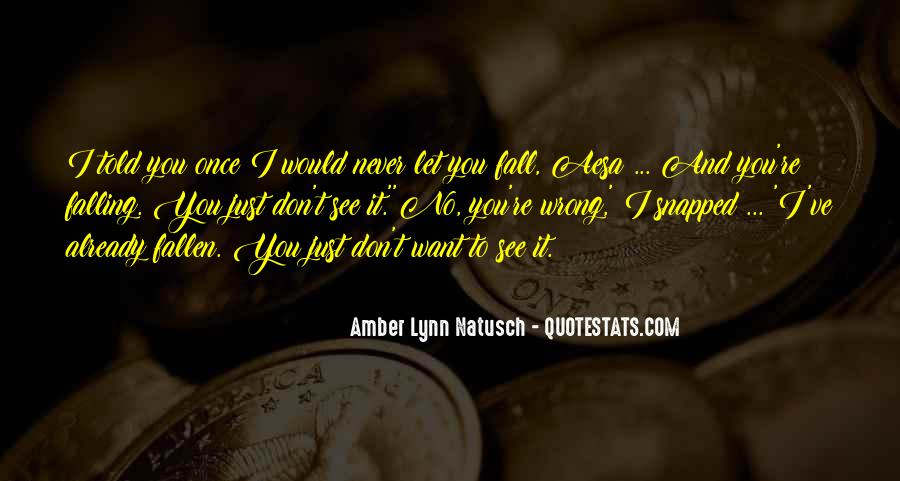 I Will Never Let You Fall Quotes #66677