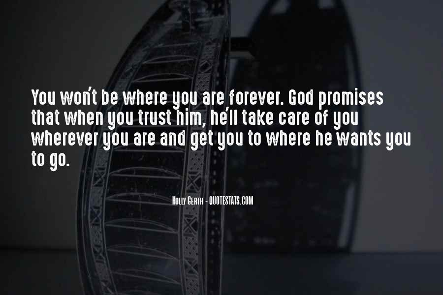 I Will Take Care Of You Forever Quotes #1783817