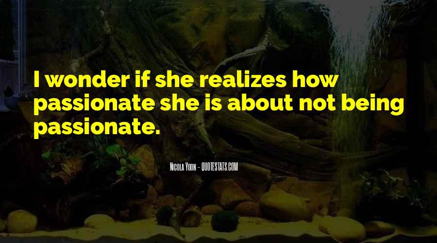 I Wonder If She Quotes #262259