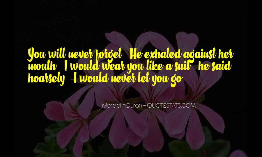 I Would Never Let You Go Quotes #1044094