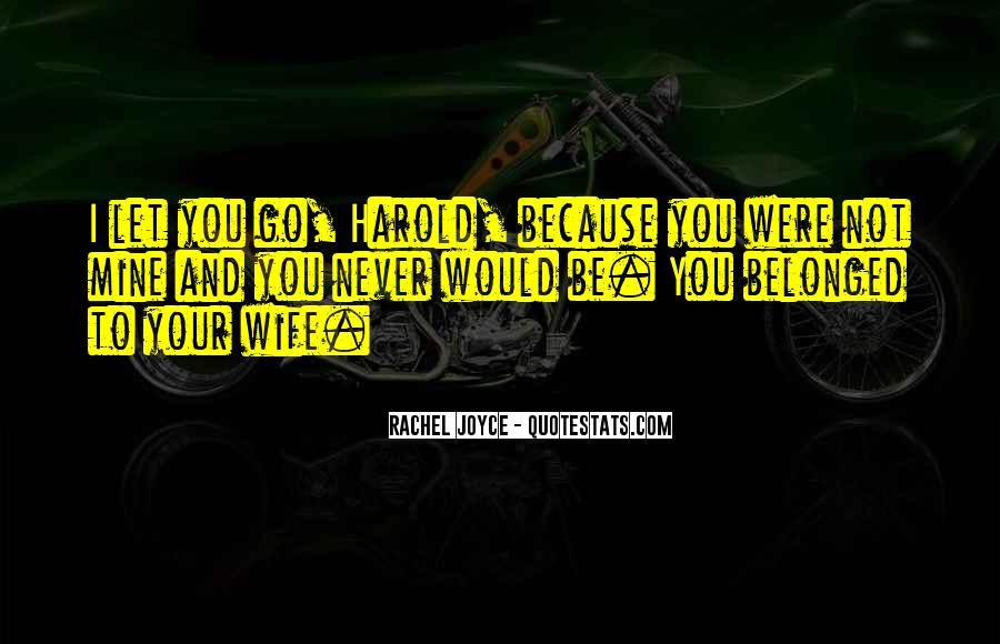 I Would Never Let You Go Quotes #1518828