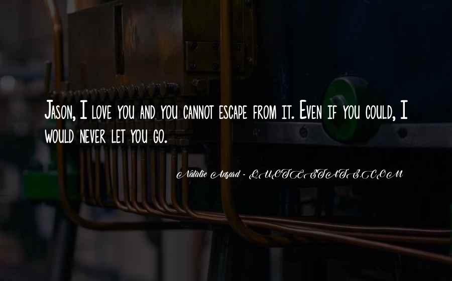 I Would Never Let You Go Quotes #593757