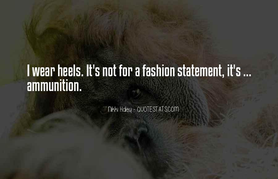 Quotes About Fashion And Heels #1608606