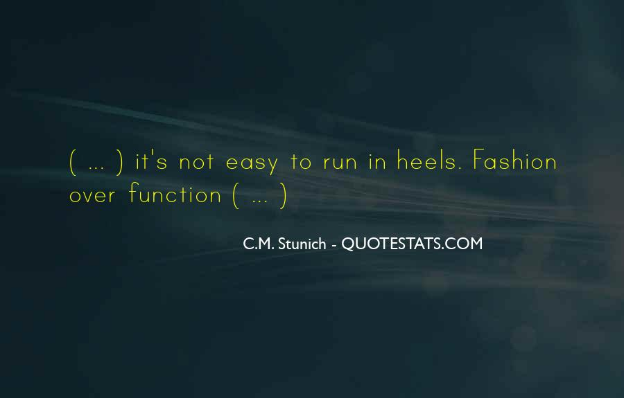 Quotes About Fashion And Heels #1770127