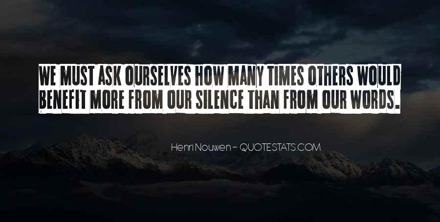 Quotes About The Benefits Of Silence #209974