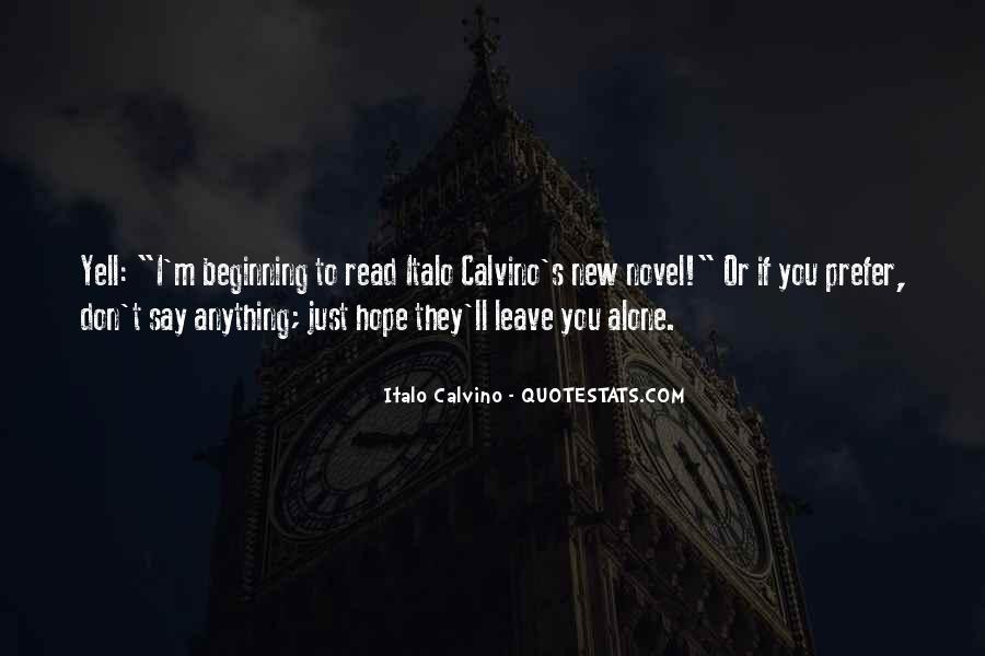 I'll Leave U Alone Quotes #873105