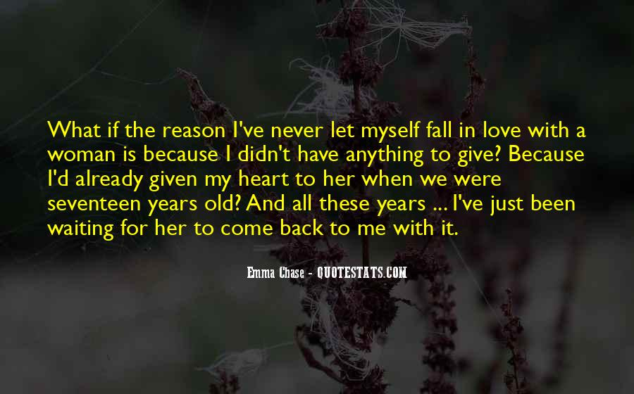 I'll Never Come Back Quotes #1157597