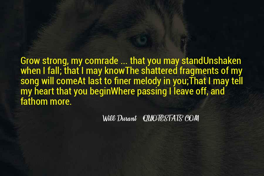 I'll Stand Strong Quotes #619458