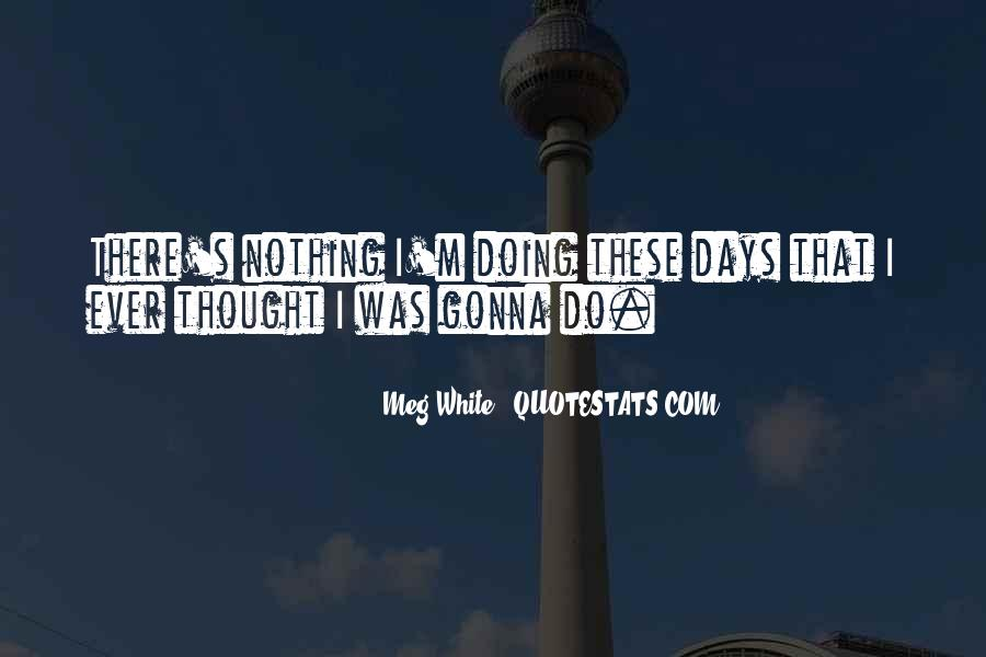 I'm Doing Nothing Quotes #180687