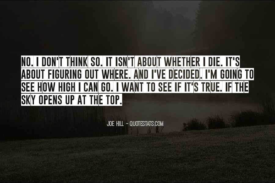 I'm Going To Die Quotes #294550