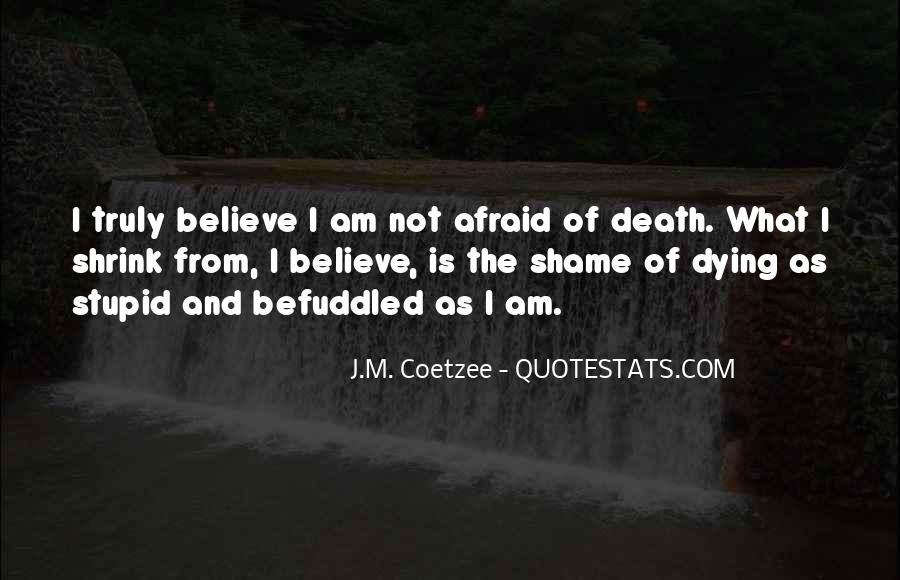I'm Not Afraid Death Quotes #264524