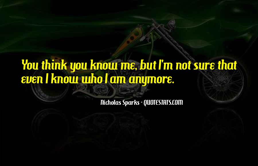 I'm Not Sure Anymore Quotes #374862