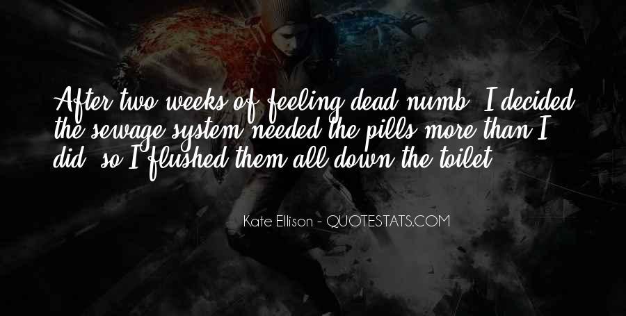 I'm Numb Quotes #147368