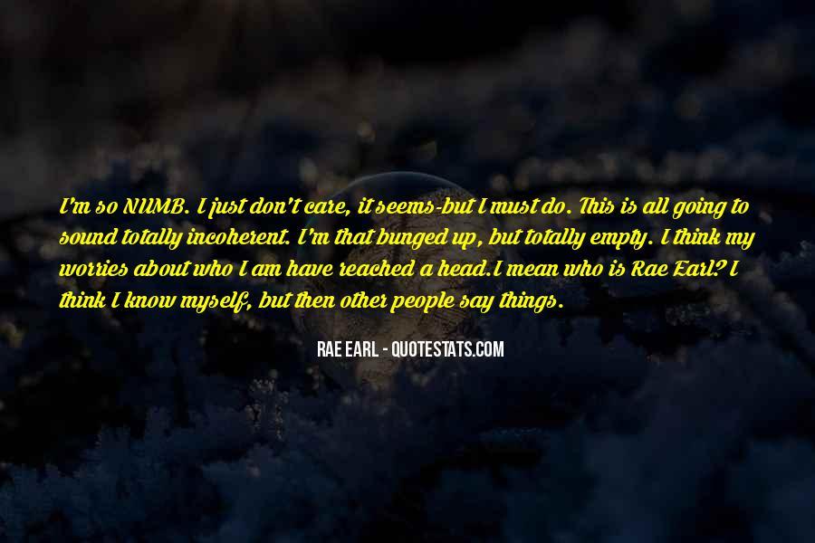 I'm Numb Quotes #704011