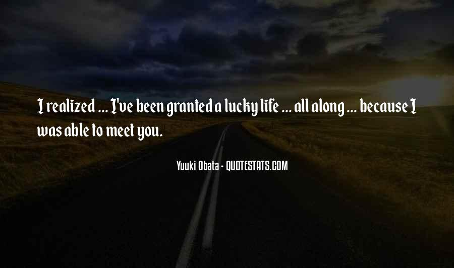 I'm So Lucky To Meet You Quotes #974666