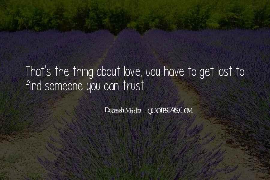 I've Lost Trust In You Quotes #182084