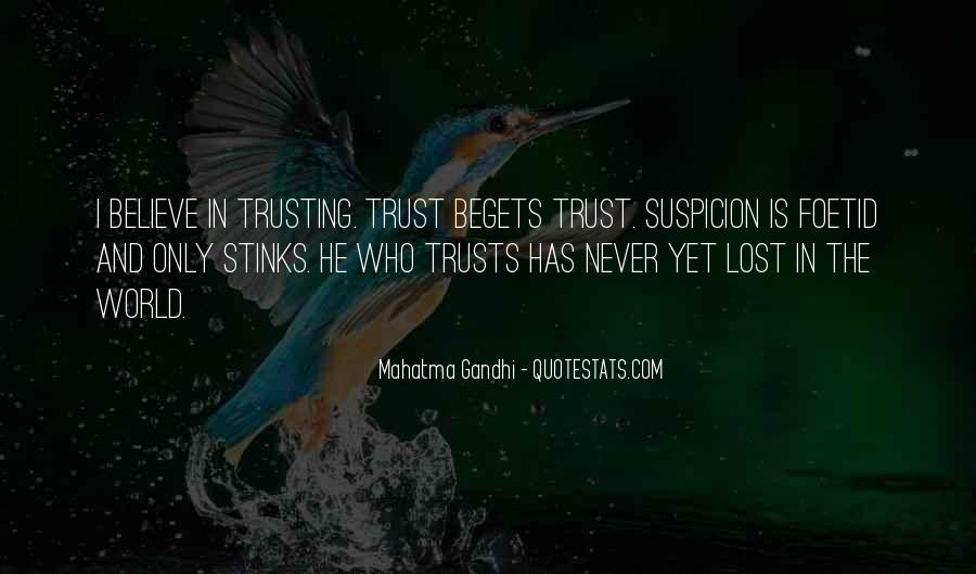 I've Lost Trust In You Quotes #572834