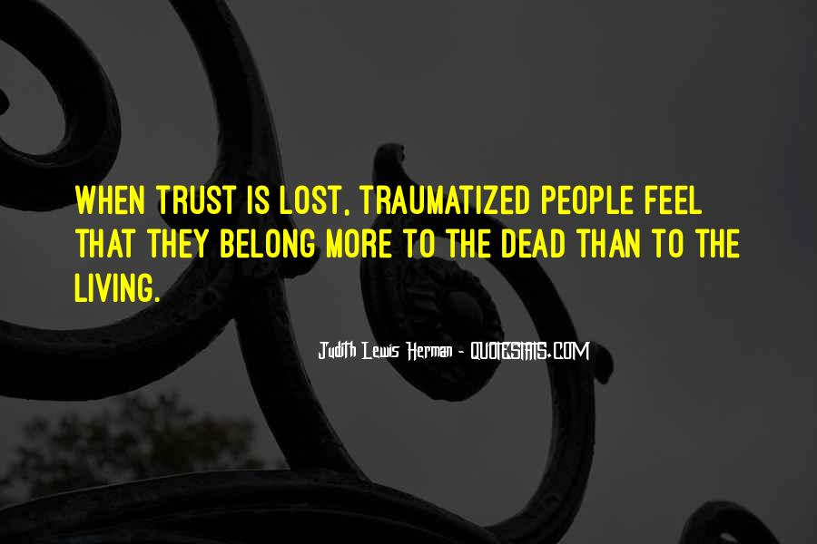 I've Lost Trust In You Quotes #92069