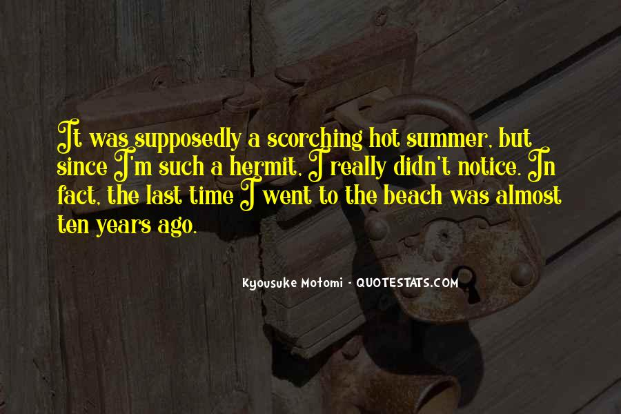 Quotes About The Beach Summer #139153