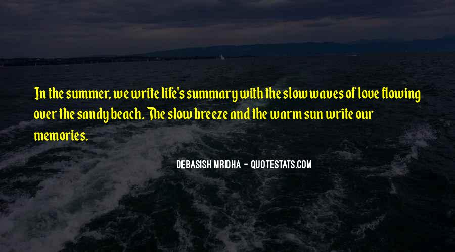 Quotes About The Beach Summer #1687279