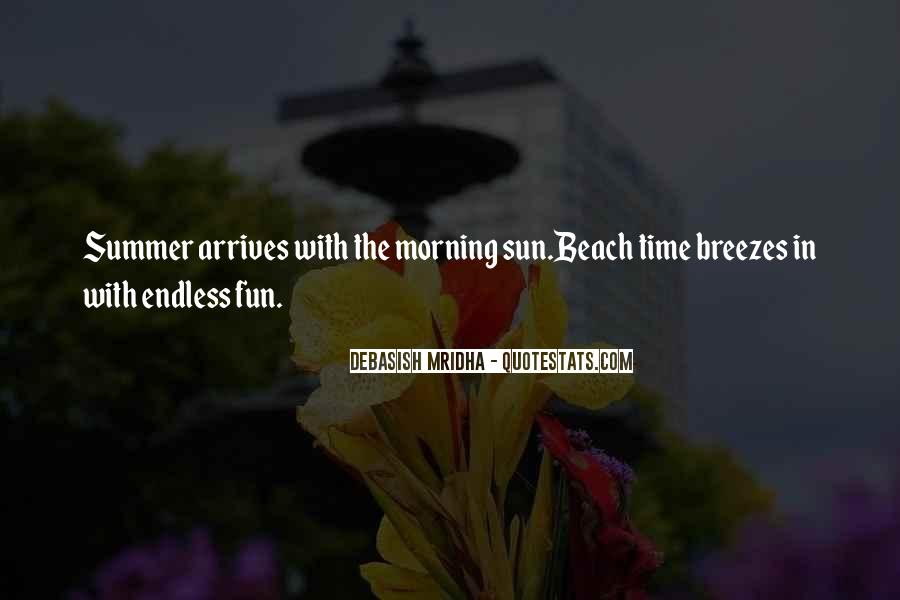 Quotes About The Beach Summer #892398
