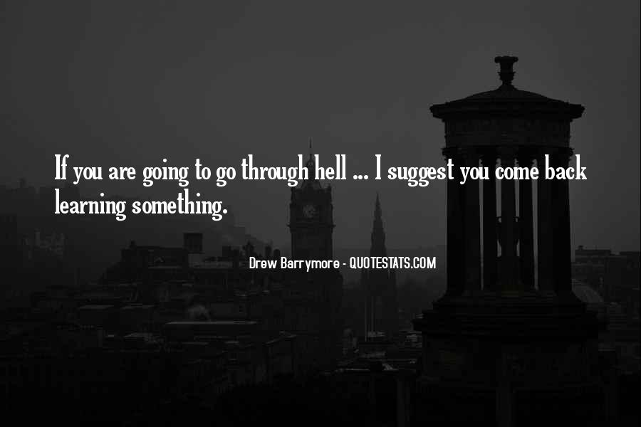 If I Going To Hell Quotes #1166007