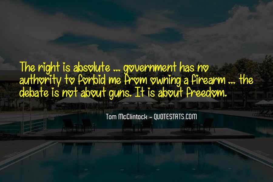 If I Had A Gun Quotes #12150