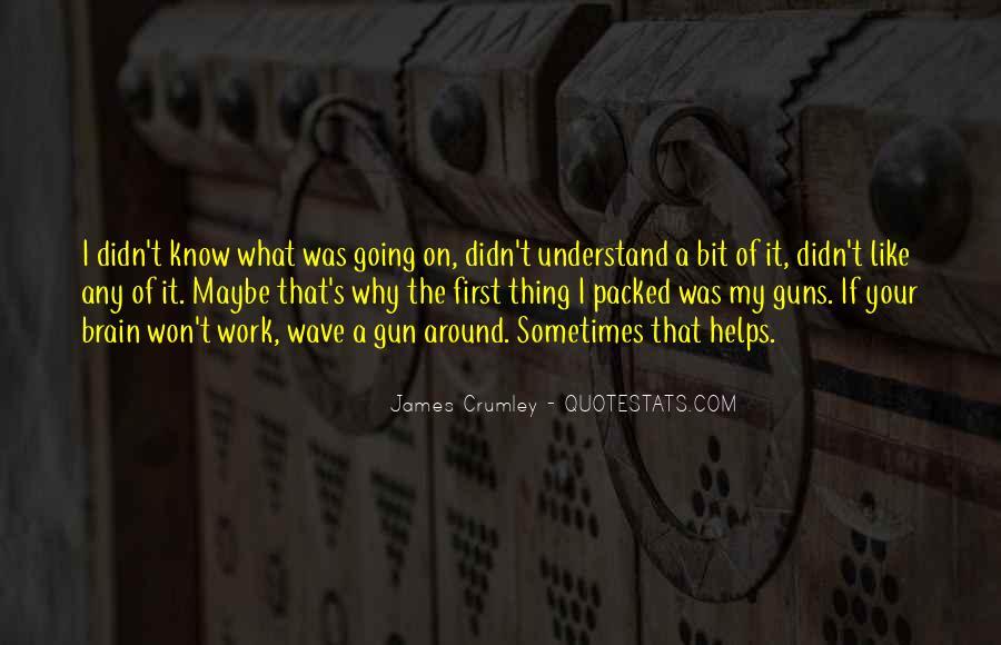 If I Had A Gun Quotes #26766