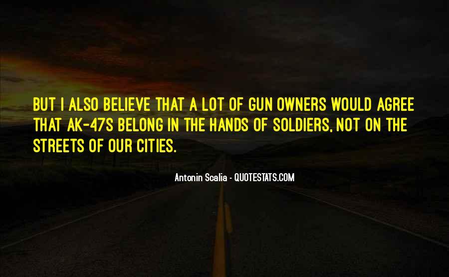If I Had A Gun Quotes #30358