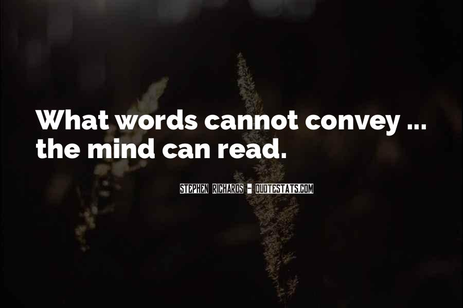 If Only I Can Read Your Mind Quotes #105248