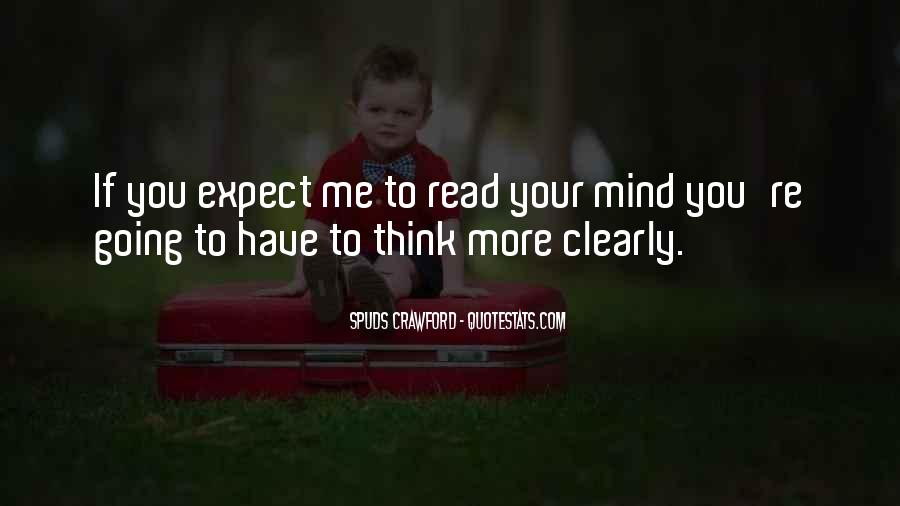 If Only I Can Read Your Mind Quotes #46988