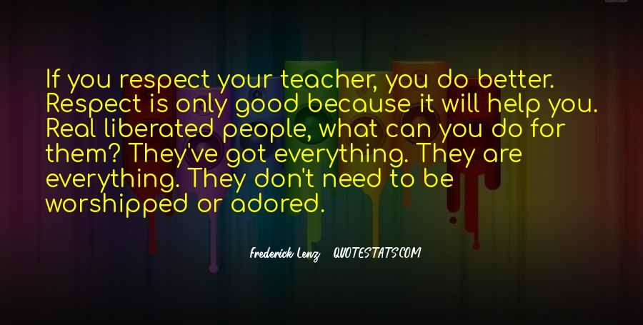 If They Respect You Quotes #1731330