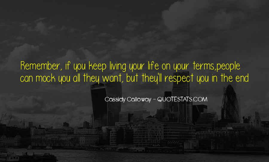 If They Respect You Quotes #41128