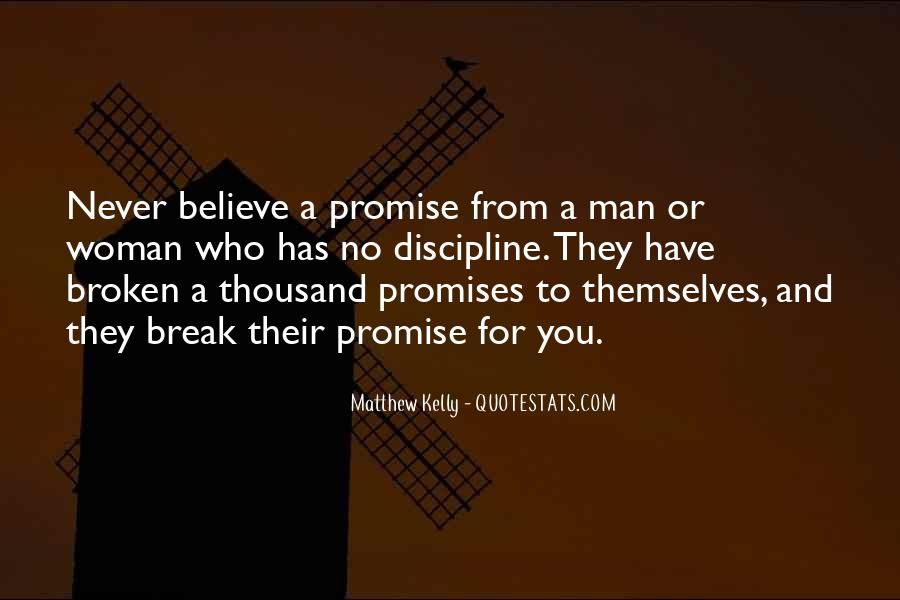 If You Break A Promise Quotes #745616