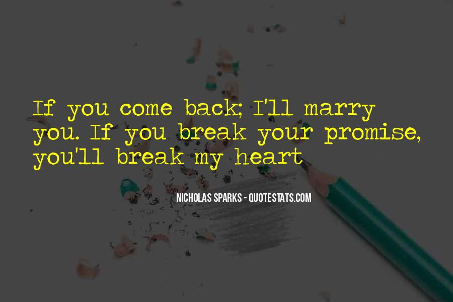 If You Break A Promise Quotes #767867