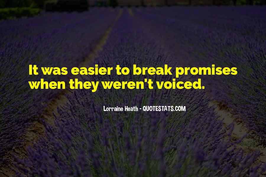 If You Break A Promise Quotes #881545