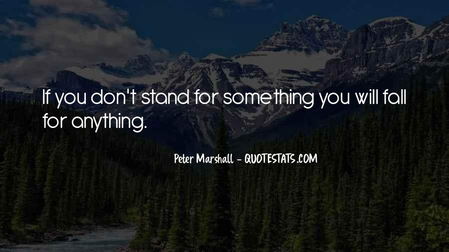 If You Don't Stand For Something Quotes #1775537